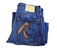 Jeans back pocket Royalty Free Stock Image
