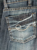Jeans back pocket. Closeup of jeans back pocket royalty free stock image