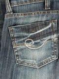 Jeans back pocket. Closeup of jeans back pocket Royalty Free Stock Image