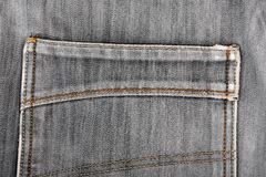 Jeans back pocket. Beautiful casual style Royalty Free Stock Photos