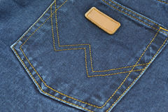 Jeans. Back pocket of jeans close-up Royalty Free Stock Photography