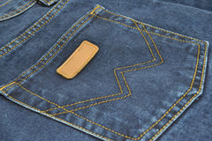 Jeans. Back pocket of jeans close-up Stock Photography