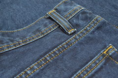 Jeans. Back pocket of jeans close-up Royalty Free Stock Image