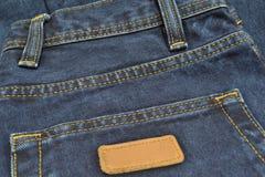 Jeans. Back pocket of jeans close-up Stock Image
