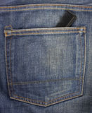 Jeans back pocket with a comb Stock Photography