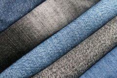 Jeans background. The material jeans is ideally suited for any clothes Stock Photography