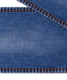 jeans background with folds Stock Photo