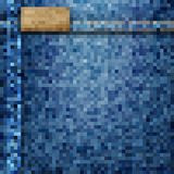 Jeans background - pixel style. Vector EPS10 Stock Photography