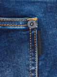 Jeans background with pocket Stock Photos