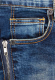 Jeans background with pocket Stock Image