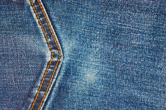 Jeans background with seam Royalty Free Stock Photos