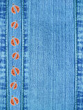 Jeans Background With Ladybugs Stock Photos