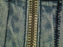 Jeans background zip Stock Photo