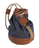 Jeans backpack Stock Images