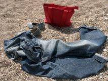 Jeans and Bag Royalty Free Stock Photo