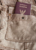 Jeans bag with Thailand passport. The Thailand passport in the jeans bag ready for trave royalty free stock photo