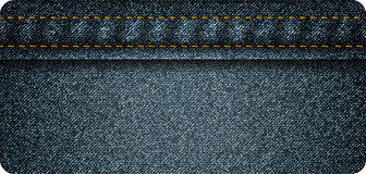 Jeans banner Stock Photos