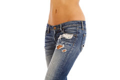 Jeans and bare top Royalty Free Stock Images