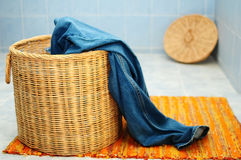 Jeans and a basket Stock Image