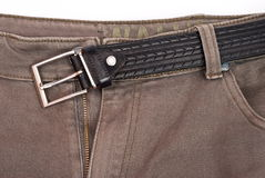 Jeans with belt Royalty Free Stock Photography