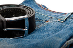 Jeans and belt Royalty Free Stock Image
