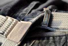 Jeans with belt. High resolution color image Stock Photography