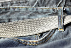 Jeans with belt Royalty Free Stock Photos
