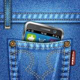 Jeans-Beschaffenheit Stockfoto