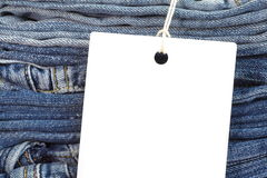 jeans with blank white tag Stock Photography