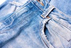 Jeans blauwe close-up Royalty-vrije Stock Afbeeldingen