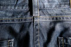 Jeans bleu-foncé Photo stock