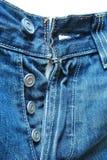 Jeans blu scuro alla moda Fotografia Stock Libera da Diritti