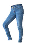 Jeans. Blue jeans isolated on the white background Royalty Free Stock Images