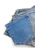 Jeans blue pocket Royalty Free Stock Photos
