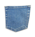 Jeans blue pocket Stock Photo