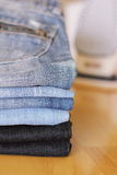 Jeans blue Stock Image