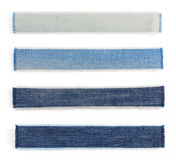 Jeans blue texture on white Royalty Free Stock Photo