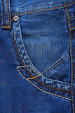 Jeans blue textured background Stock Images