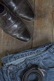 Jeans and Boots Royalty Free Stock Photos