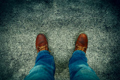Jeans and boots Stock Photos