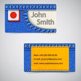 Jeans business card Royalty Free Stock Photo