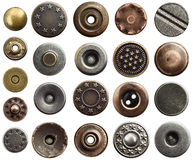 Jeans buttons Royalty Free Stock Photo