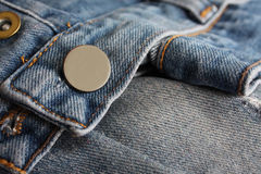 Jeans buttons close up Royalty Free Stock Images