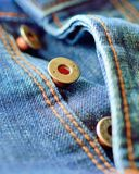 Jeans buttons on fly Royalty Free Stock Images