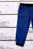 Jeans casuali del denim del neonato Fotografia Stock Libera da Diritti