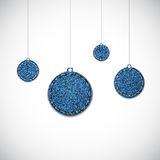 Jeans christmas balls Stock Images
