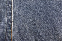 Jeans. Close up of blue jeans texture Royalty Free Stock Image