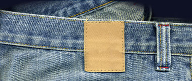 Jeans close up with patch Royalty Free Stock Photos