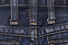Jeans close-up seam texture Stock Photo