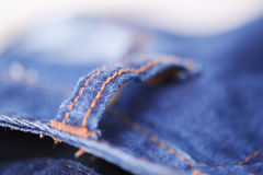 Jeans closeup. Jeans clothes close up, selective focus Royalty Free Stock Photos